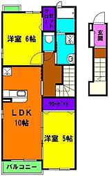 静岡県浜松市天竜区山東の賃貸アパートの間取り