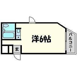 ダイドーシティ甲子園口駅前[4階]の間取り