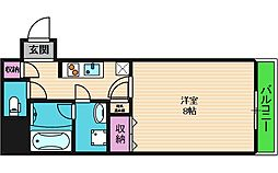RESIDENCE SHINO 11階1Kの間取り