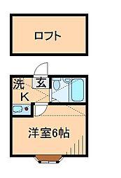 神奈川県横浜市港北区新吉田東2丁目の賃貸アパートの間取り