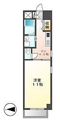 フローラル栄Ⅱ[5階]の間取り