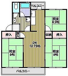 泉北槇塚台住宅8号棟[5階]の間取り