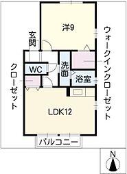 クレスト篠の風A棟[2階]の間取り