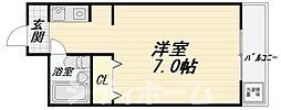 大阪府大阪市西成区山王3丁目の賃貸マンションの間取り