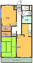 ガーデンハイツ大和田[2階]の間取り
