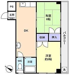 ニューメトロビル[2階]の間取り