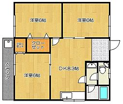 羽犬塚コーポ[2階]の間取り