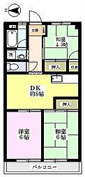 羽鳥ハイツ[2階]の間取り