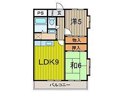 グレースマンション芝[3階]の間取り