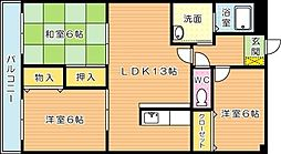 エクセル青葉台II[5階]の間取り