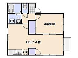 カンパーニュTN[1階]の間取り