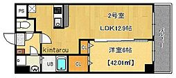 富士見Nameki Mansion[702号室]の間取り