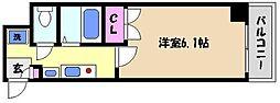兵庫県芦屋市楠町の賃貸マンションの間取り