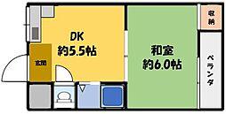 山田マンション[3階]の間取り