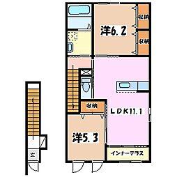 エル・ピソR[2階]の間取り