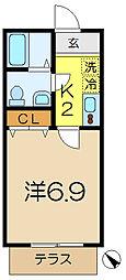 エスペランサ杉田[1階]の間取り