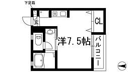 兵庫県川西市美園町の賃貸アパートの間取り