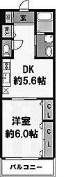 ボナール・河[701号室]の間取り