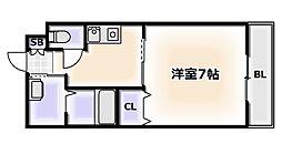 大阪府大阪市浪速区日本橋4丁目の賃貸マンションの間取り
