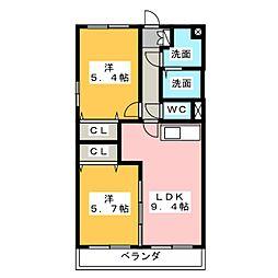 グランストーク松野[2階]の間取り