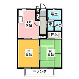 セレナード・F[1階]の間取り