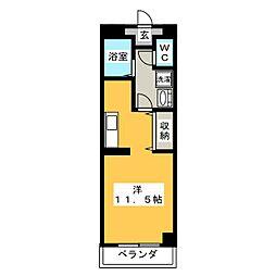 コンベナリー八幡B[2階]の間取り