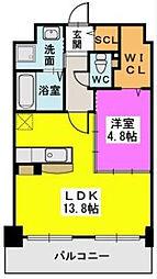 JR鹿児島本線 福工大前駅 徒歩4分の賃貸マンション 2階1LDKの間取り