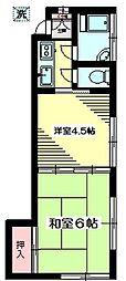 東京都杉並区上荻2丁目の賃貸アパートの間取り