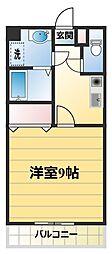 スプリングス赤坂I[2−B号室]の間取り