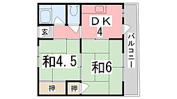 栄マンション[203号室]の間取り