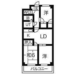 ディアコートツジ[2階]の間取り