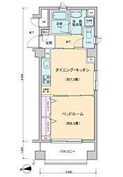 プロッシモ新宿[601号室号室]の間取り