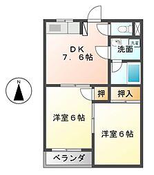 愛知県名古屋市中川区柳川町の賃貸マンションの間取り