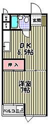 ニューハイツ松川[1階]の間取り
