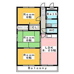 サンリバパーク[2階]の間取り