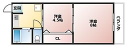 コバルトハイツ[3階]の間取り