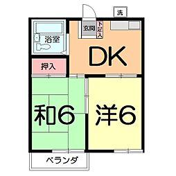 第2嶋村コーポ[202号室]の間取り