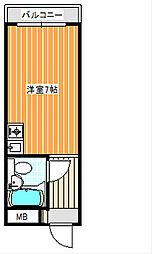 プレアール新北島[5階]の間取り