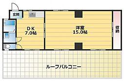 原口ハイツ[4階]の間取り