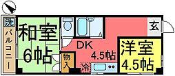 プラーズ小松川[302号室]の間取り