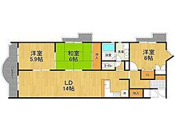 エスポワール甲子園口[1階]の間取り