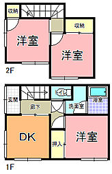 [一戸建] 茨城県水戸市河和田3丁目 の賃貸【茨城県 / 水戸市】の間取り