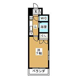 ムツミハイツ2[5階]の間取り