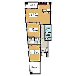 ラ・ネージュIV[8階]の間取り