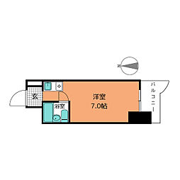 パリーマンション[10階]の間取り