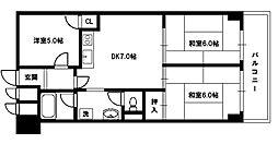 ライオンズマンション東淀川[6階]の間取り