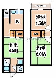 [一戸建] 大阪府大東市北条2丁目 の賃貸【/】の間取り