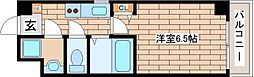 JR東海道・山陽本線 三ノ宮駅 徒歩10分の賃貸マンション 3階1Kの間取り