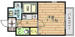 CASSIA福島駅前(旧アーデン福島)[7階]の間取り
