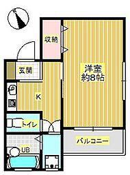 モン・シャンブル[1階]の間取り